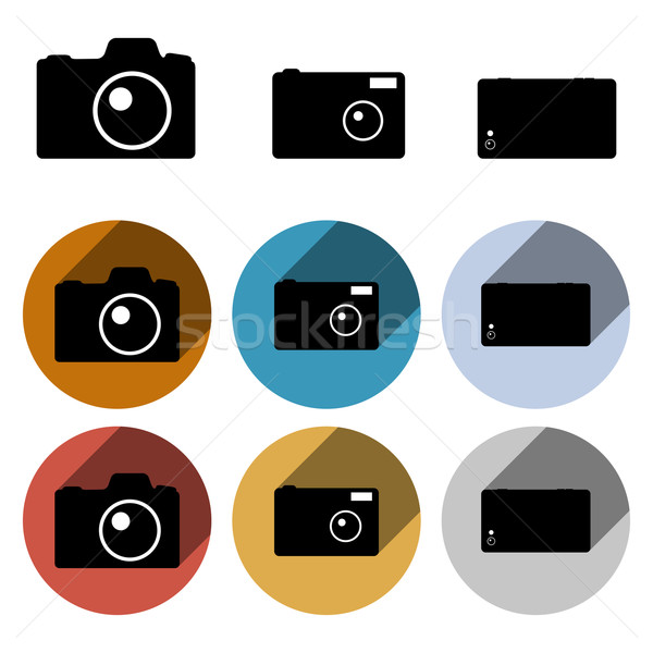 Vecteur photo caméra propre Photo stock © filip_dokladal