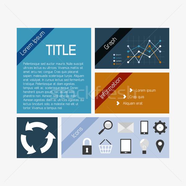 Vecteur infographie modèle propre couleur lumière Photo stock © filip_dokladal