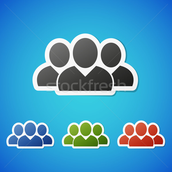 Vecteur sociale icône vignette propre couleur Photo stock © filip_dokladal