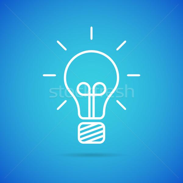 Vecteur ampoule icône propre modernes idée Photo stock © filip_dokladal