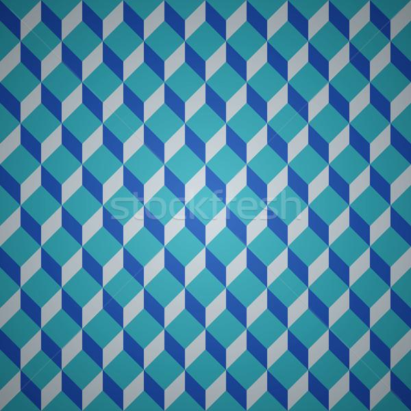 Vecteur isométrique modèle bleu propre Photo stock © filip_dokladal