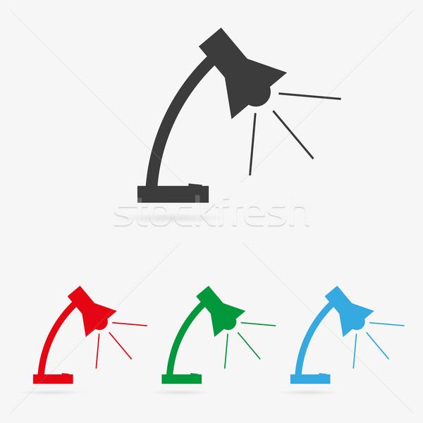 Vector lamp icons Stock photo © filip_dokladal