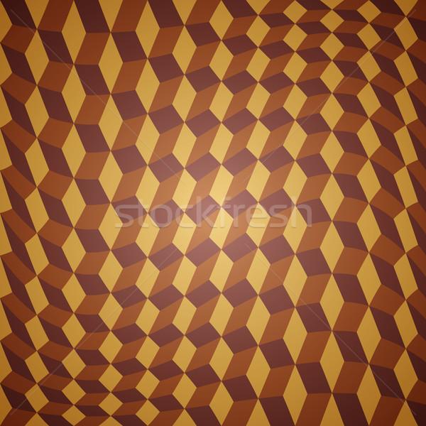 Vector abstract goud schone retro golf Stockfoto © filip_dokladal