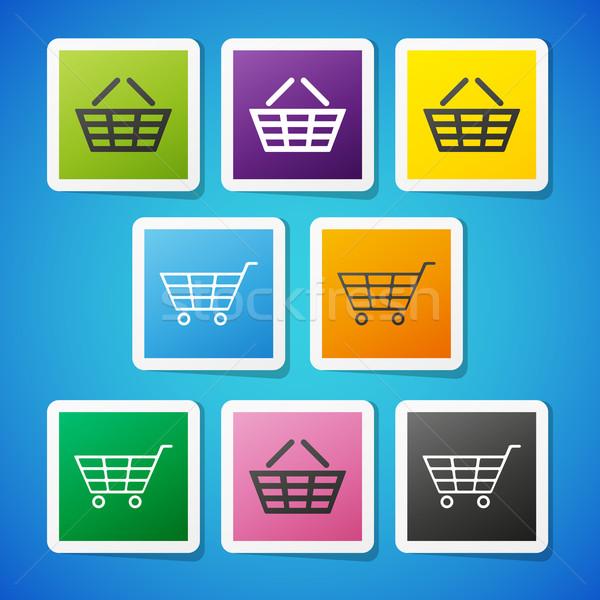 Vecteur panier propre couleur symbole Photo stock © filip_dokladal