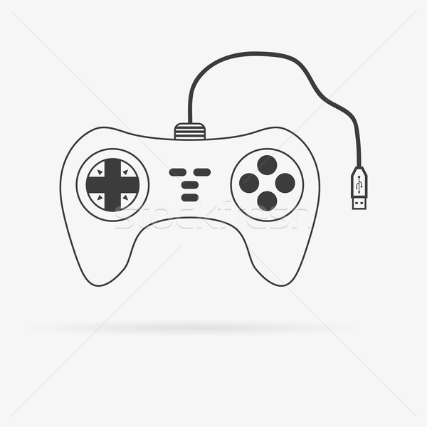 вектора геймпад икона чистой изолированный подробный Сток-фото © filip_dokladal