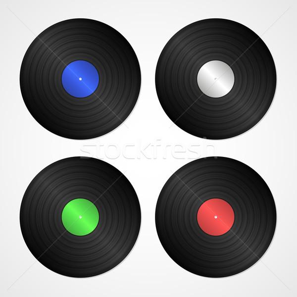 Vecteur vinyle propre rétro isolé Photo stock © filip_dokladal