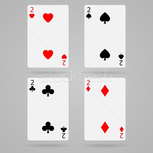 вектора карт чистой набор игральных карт игры Сток-фото © filip_dokladal