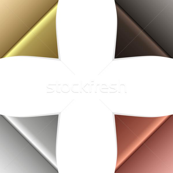 вектора уголки набор чистой бумаги углу Сток-фото © filip_dokladal