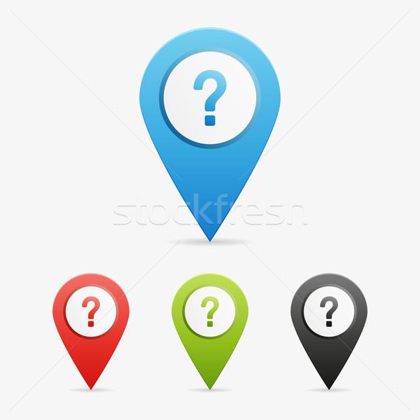 Vector question mark  pointers Stock photo © filip_dokladal