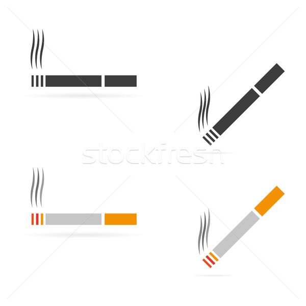 вектора сигарету чистой символ иконки Сток-фото © filip_dokladal