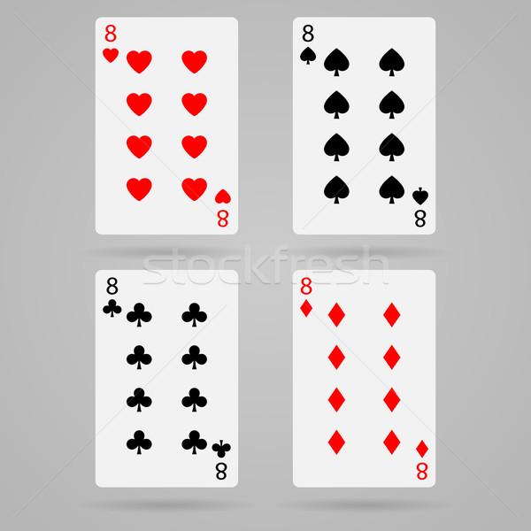 вектора восемь карт чистой набор игральных карт Сток-фото © filip_dokladal