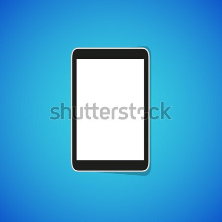 Vecteur comprimé téléphone propre isolé simple Photo stock © filip_dokladal