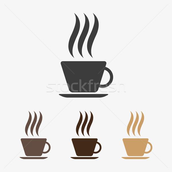 Vector hot coffee icon Stock photo © filip_dokladal