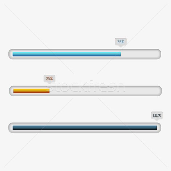 Vector vooruitgang bars ingesteld schone kleur Stockfoto © filip_dokladal