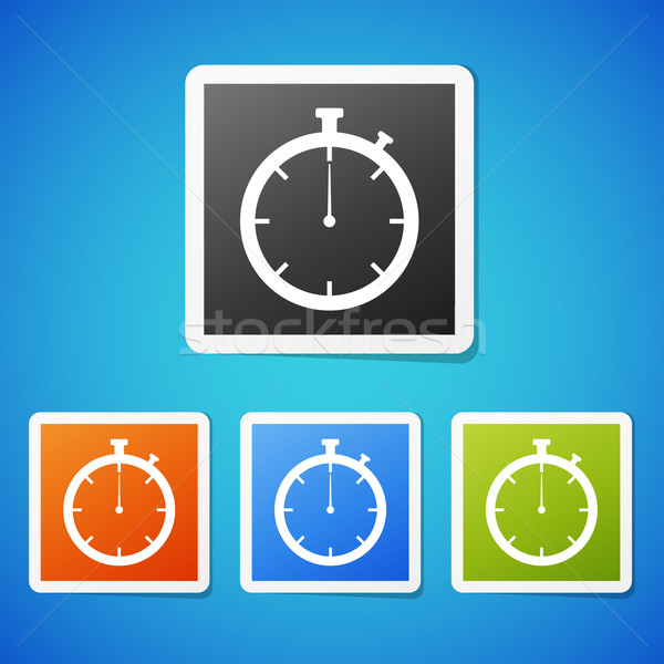 Stockfoto: Vector · stopwatch · schone · kleur · sticker
