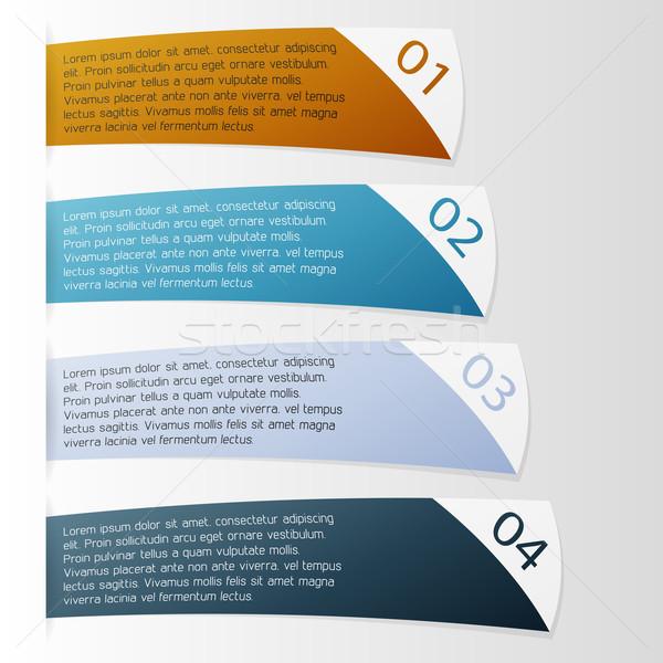 Vecteur modèle propre couleur modernes Photo stock © filip_dokladal