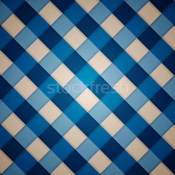 Vecteur modèle bleu propre rétro diagonal Photo stock © filip_dokladal