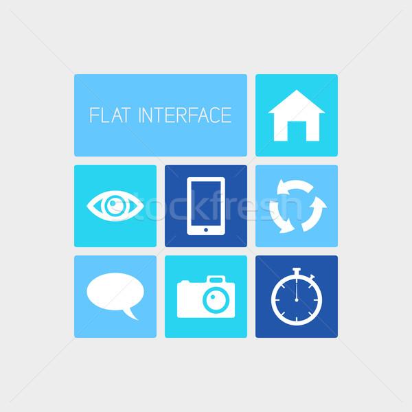 Vector gebruiker interface schone kleur vierkante Stockfoto © filip_dokladal