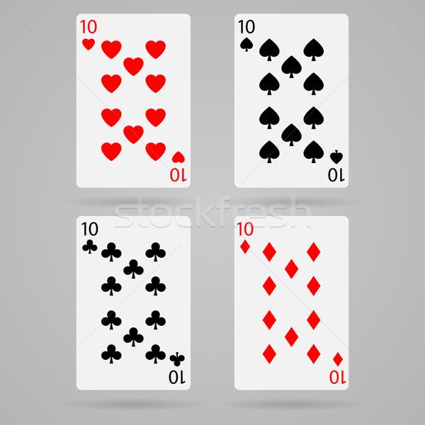 вектора десять карт чистой набор игральных карт Сток-фото © filip_dokladal