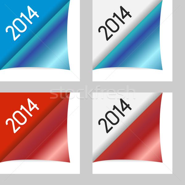 Photo stock: Vecteur · propre · couleur · année