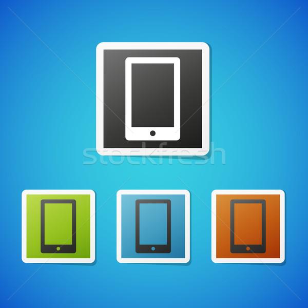 Vecteur téléphone propre couleur téléphone portable Photo stock © filip_dokladal