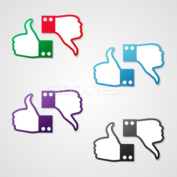 Vector thumbs up and down icons Stock photo © filip_dokladal