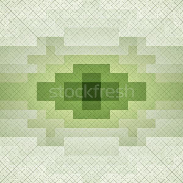 Vecteur résumé vert grunge pixel Photo stock © filip_dokladal
