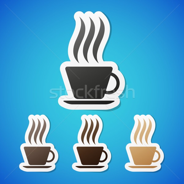 Vector coffe stickers Stock photo © filip_dokladal