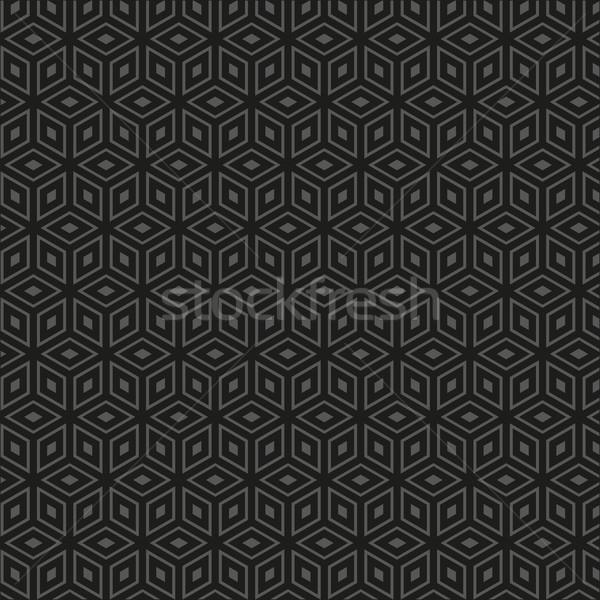 Vecteur motif géométrique sombre propre vintage géométrique Photo stock © filip_dokladal