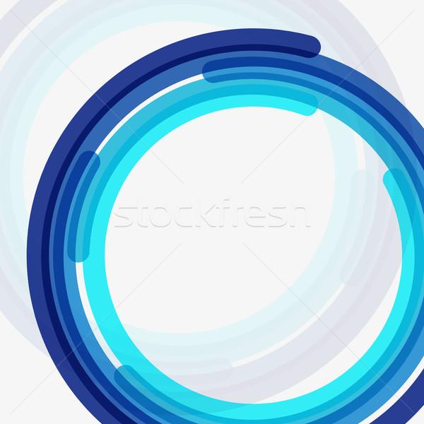 Vecteur résumé bleu propre cercle modernes Photo stock © filip_dokladal