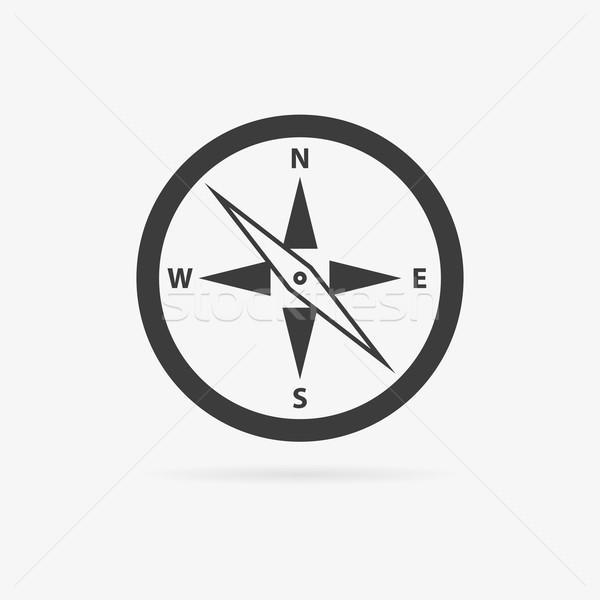 Vector compass icon Stock photo © filip_dokladal