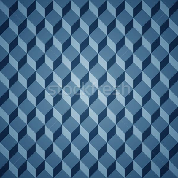 вектора изометрический шаблон синий ретро Сток-фото © filip_dokladal