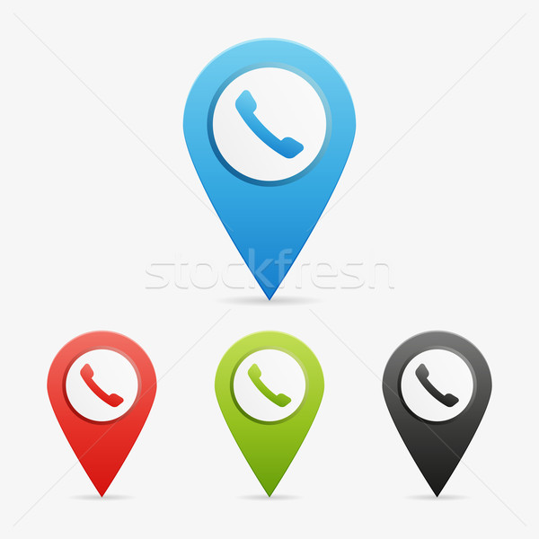 Vector phone pointers Stock photo © filip_dokladal