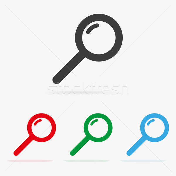 вектора поиск чистой цвета символ Сток-фото © filip_dokladal