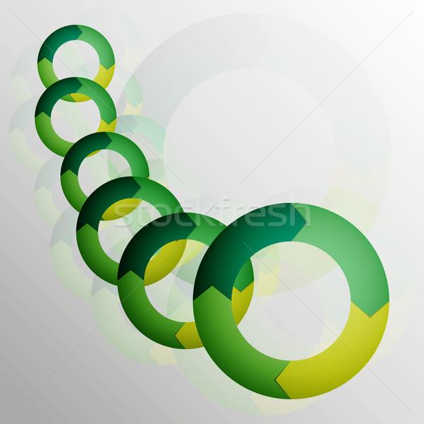 Vector abstract groene schone cirkel moderne Stockfoto © filip_dokladal