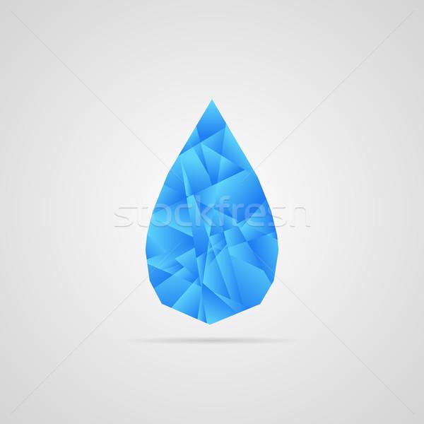 аннотация вектора капли воды синий тень фон Сток-фото © filip_dokladal