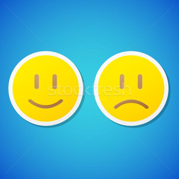Vektor emotikonok matricák szett tiszta szemek Stock fotó © filip_dokladal