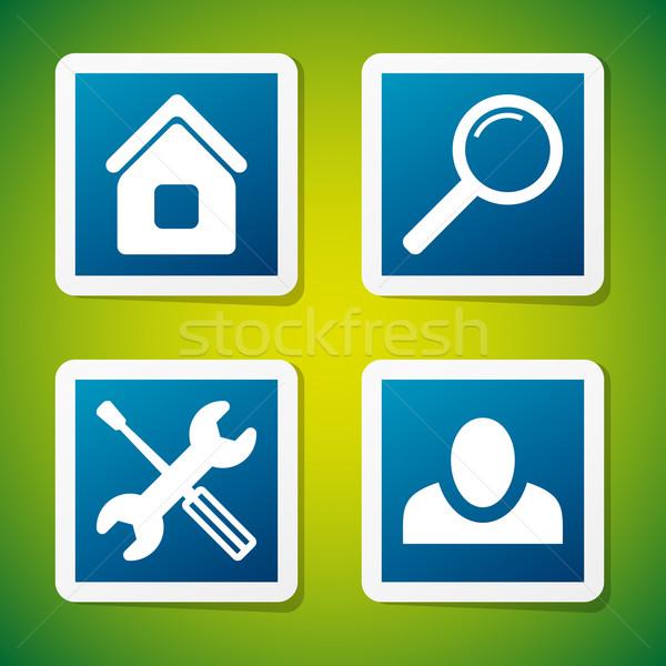 Vecteur icônes web propre web vignette Photo stock © filip_dokladal