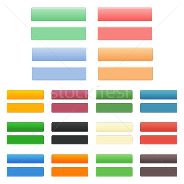 вектора кнопки набор чистой цвета современных Сток-фото © filip_dokladal