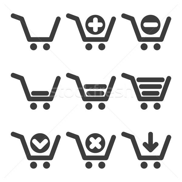 Vector cart icons Stock photo © filip_dokladal