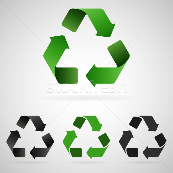 Vecteur recyclage propre gris vert Photo stock © filip_dokladal