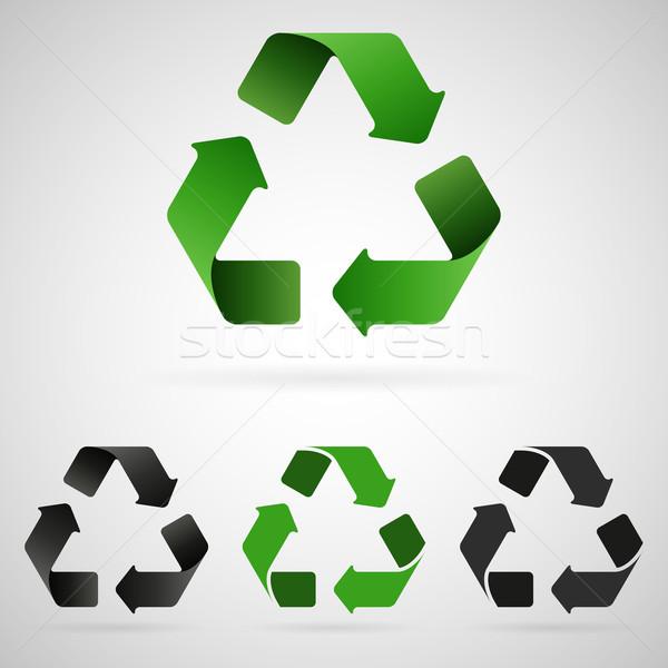 Vector recycling icons Stock photo © filip_dokladal