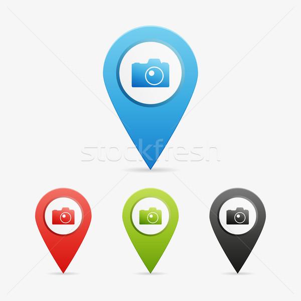 Vecteur photo caméra propre couleur Photo stock © filip_dokladal