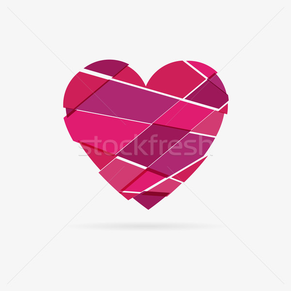Vector shattered heart Stock photo © filip_dokladal