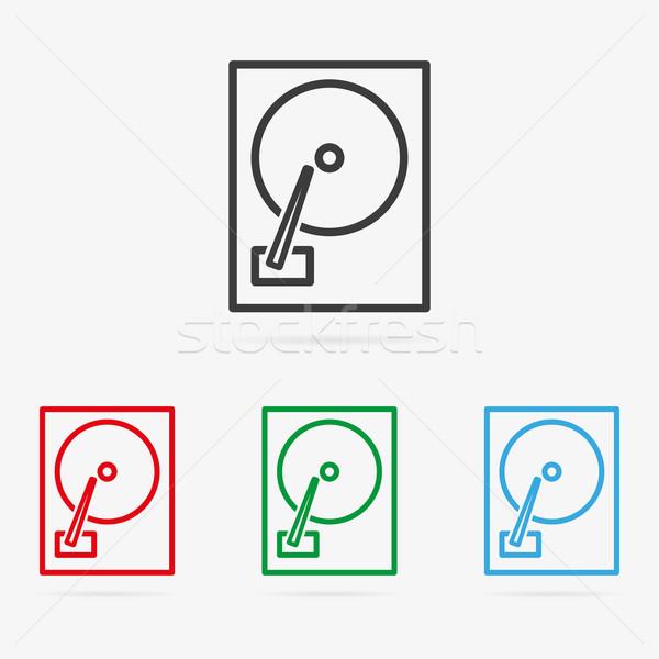 вектора Жесткий диск чистой цвета символ Сток-фото © filip_dokladal