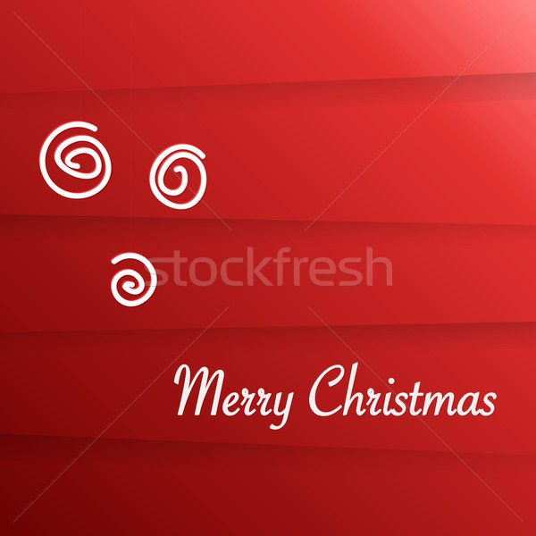 Vector wenskaart vrolijk christmas schone Rood Stockfoto © filip_dokladal