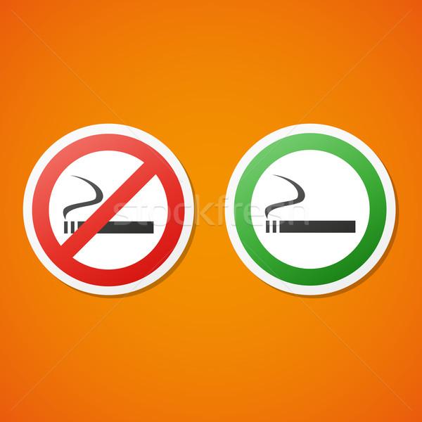 вектора курение набор чистой наклейку Сток-фото © filip_dokladal