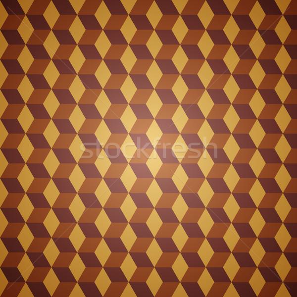 Photo stock: Vecteur · résumé · modèle · orange · propre · rétro