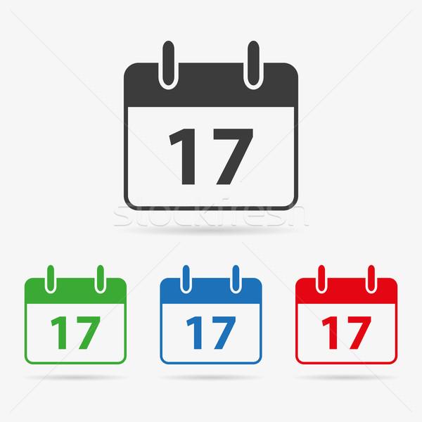 Vecteur calendrier propre couleur symbole Photo stock © filip_dokladal