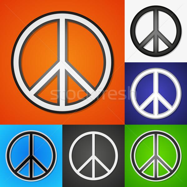 Vecteur pièce symboles propre couleur Photo stock © filip_dokladal